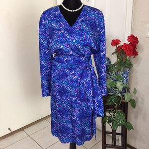 Nora Noh Petite Silk Sash Dress (size 8)